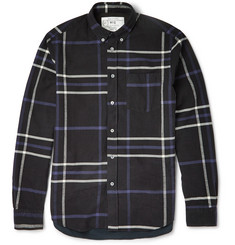 McQ Alexander McQueen Contrast-Back Plaid Brushed-Cotton Shirt