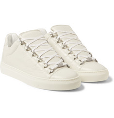 Balenciaga Arena Creased Leather Low-Top Sneakers
