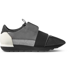 Balenciaga Leather, Suede and Mesh Sneakers