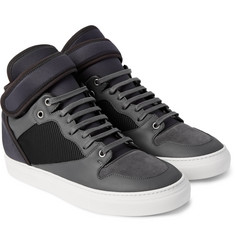 Balenciaga Leather, Suede, Neoprene and Mesh Sneakers