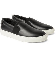 Balenciaga Leather Slip-On Sneakers