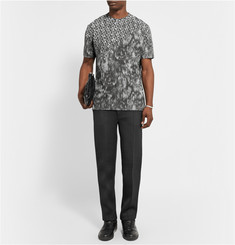 Balenciaga Slim-Fit Bonded Wool-Jersey Trousers