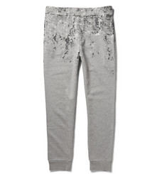 Balenciaga Splatter-Print Cotton-Jersey Sweatpants