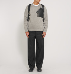 Balenciaga Wide-Leg Wool-Flannel Trousers