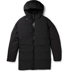 Balenciaga Leather-Trimmed Padded Shell Parka Coat