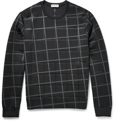 Balenciaga Checked Bonded Stretch-Jersey Sweatshirt