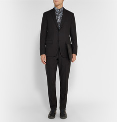 Balenciaga Slim-Fit Marble-Print Cotton-Poplin Shirt