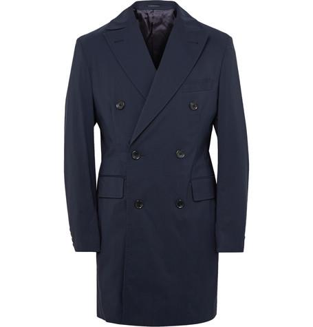 Thom SweeneyMaddox Wool-Blend Shell Overcoat