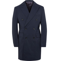 Thom Sweeney Maddox Wool-Blend Shell Overcoat