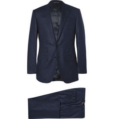 Thom Sweeney Navy Slim-Fit Chalk-Striped Wool Three-Piece Suit