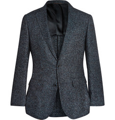 Thom Sweeney Blue Curzon Slim-Fit Wool-Blend Blazer
