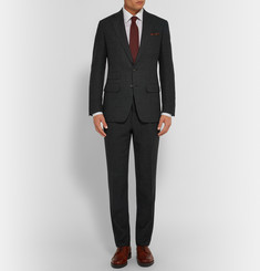 Thom Sweeney Dark-Green Mount Street Slim-Fit Basketweave Wool Suit