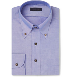 Thom Sweeney Blue Slim-Fit Cotton Oxford Shirt