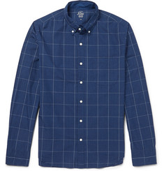 J.Crew Windowpane-Checked Cotton Shirt