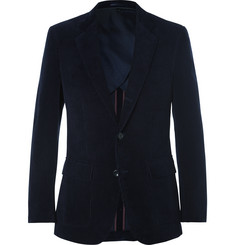 J.Crew Midnight-Blue Ludlow Cotton-Corduroy Blazer