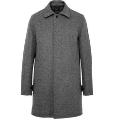 J.Crew Micro-Houndstooth Wool-Blend Car Coat