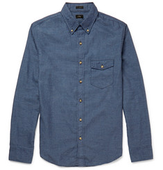 J.Crew Slim-Fit Button-Down Collar Brushed-Cotton Shirt
