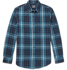 J.Crew Checked Cotton-Flannel Shirt