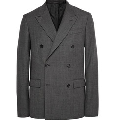 Jil Sander Charcoal Double-Breasted Wool Blazer