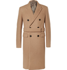 Jil Sander Double-Breasted Camel and Wool-Blend Coat