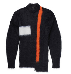 Jil Sander Asymmetric Mohair-Blend Sweater