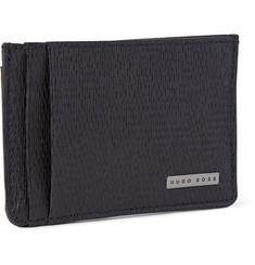 Hugo Boss Luber Textured-Leather Cardholder