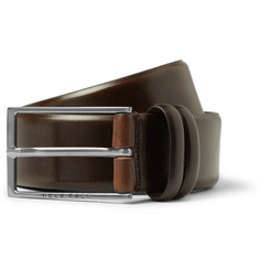 Hugo Boss Brown 3.5cm Carmello Leather Belt