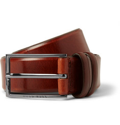 Hugo Boss Tan 3.5cm Carmello Leather Belt