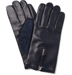 WANT Les Essentiels de la Vie Cashmere-Lined Leather and Suede Gloves