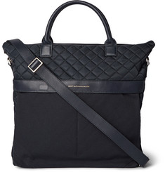 WANT Les Essentiels de la Vie O'Hare II Leather-Trimmed Cotton-Canvas and Quilted-Shell Tote