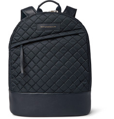 WANT Les Essentiels de la Vie Kastrup Leather-Trimmed Quilted Tech-Canvas Backpack