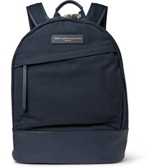 WANT Les Essentiels Kastrup Leather-Trimmed Canvas Backpack