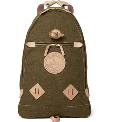 Yuketen Leather-Trimmed Wool-Felt Backpack
