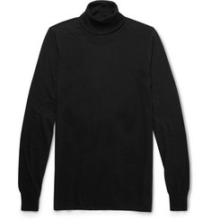 Rick Owens Cotton-Jersey Rollneck Sweater