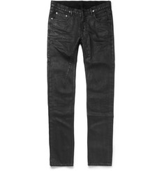 Rick Owens Slim-Fit Coated Denim Jeans