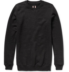 Rick Owens DRKSHDW Stitched Cotton-Fleece Sweatshirt
