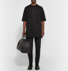 Rick Owens DRKSHDW Star-Stitched Cotton-Fleece Sweatshirt