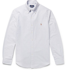 폴로 랄프로렌 셔츠 Polo Ralph Lauren Slim-Fit Striped Cotton Oxford Shirt,Blue