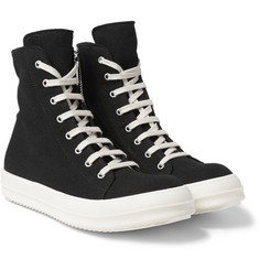 Rick Owens - DRKSHDW Canvas High-Top Sneakers