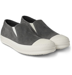 Rick Owens - Cap-Toe Corduroy Slip-On Sneakers