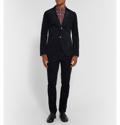 Gant Rugger Midnight-Blue Cotton-Corduroy Blazer