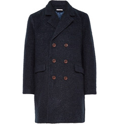 Gant Rugger Double-Breasted Bouclé Overcoat