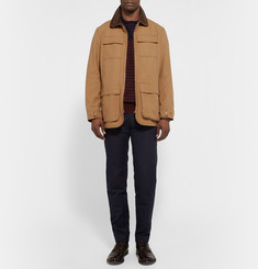 Gant Rugger Corduroy-Trimmed Cotton-Canvas Field Jacket