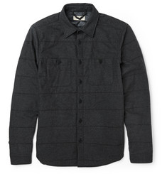 Burberry Brit Padded Cotton-Flannel Shirt Jacket