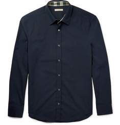 Burberry Brit Slim-Fit Stretch Cotton-Poplin Shirt