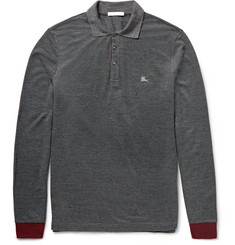 Burberry Brit - Slim-Fit Contrast-Trimmed Piqué Polo Shirt