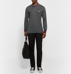 Burberry Brit Slim-Fit Contrast-Trimmed Piqué Polo Shirt