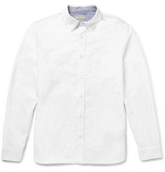 Burberry Brit Slim-Fit Chambray-Trimmed Cotton-Piqué Shirt