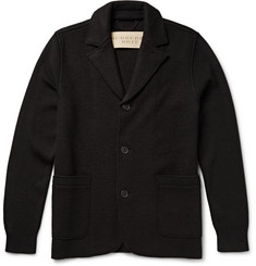 Burberry Brit Slim-Fit Panelled Wool-Blend Cardigan