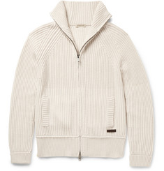 Burberry - Brit Ribbed Wool and Cashmere-Blend Cardigan